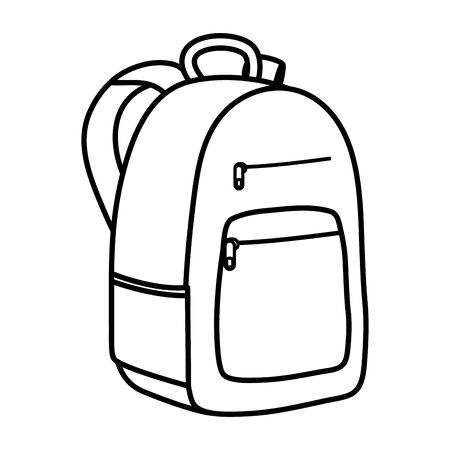 schoolbag education supply isolated icon