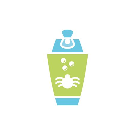 Isolated pet jar icon flat vector design