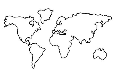 Isolated cartography map design vector illustration
