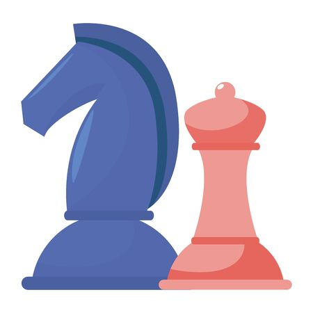 Chess design, Piece game strategy competition leisure hobby play theme Vector illustration 矢量图像