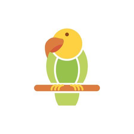 Bird icon design, Veterinary pet mascot domestic animal friendship care and lifestyle theme Vector illustration  イラスト・ベクター素材