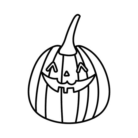 trick or treat - happy halloween line image