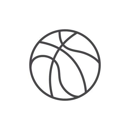 Bola aislada de diseño vectorial de baloncesto