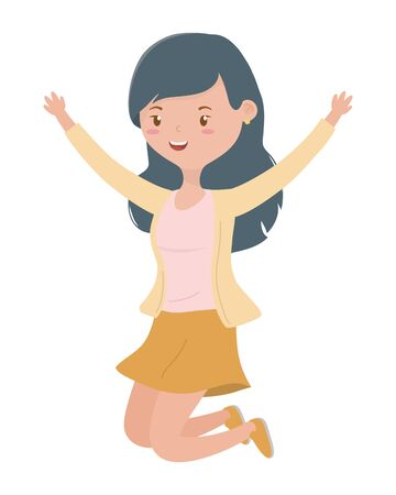Teenager girl cartoon design vector illustrator