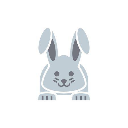 Isolated rabbit icon flat vector design