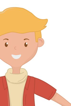 Teenager boy cartoon design vector illustration