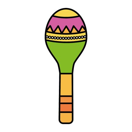 maracas musical instrument icon  イラスト・ベクター素材