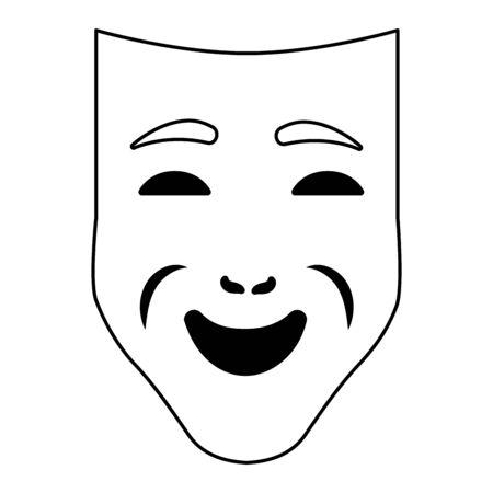 carnival mask cartoon 일러스트