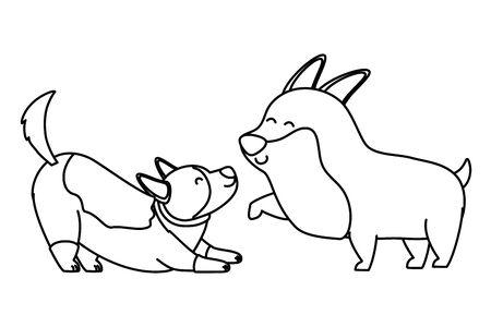 Dogs cartoons design