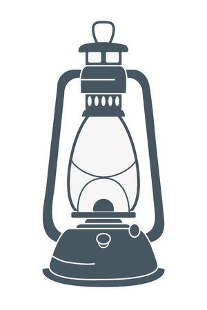 camping lantern lamp cartoon Foto de archivo - 133362789
