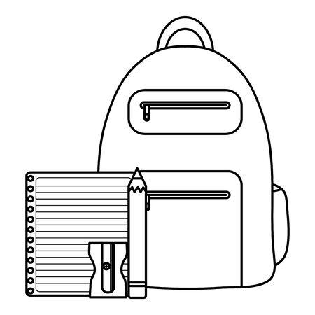 notebook school supply with schoolbag