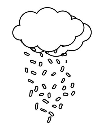Isolated cloud design vector illustration