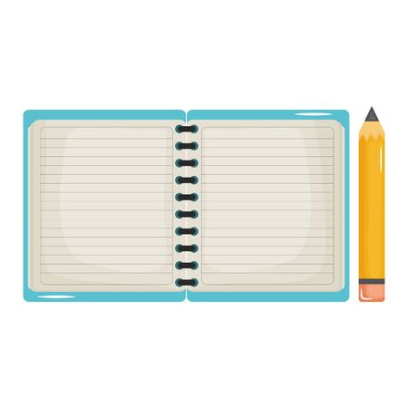 notebook school supply with pencil