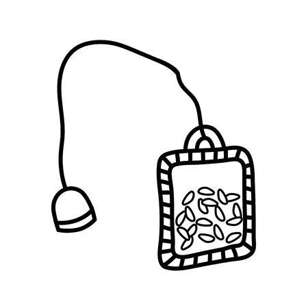 Isolated tea bag design vector illustration Illustration