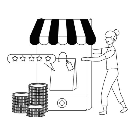 Woman shopping design