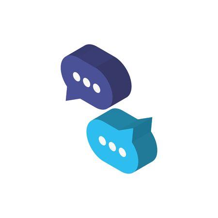 Bubbles icon design, Digital technology communication social media internet web and wireless theme Vector illustration 일러스트