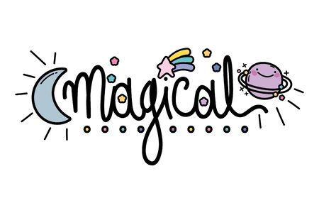 Isolated magical word vector design Ilustrace
