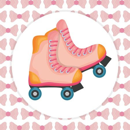 skate roller isolated icon Illustration