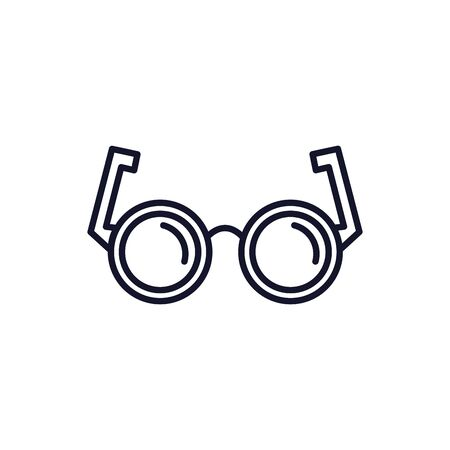 Isolated glasses line vector design 일러스트