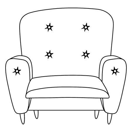 Comfortable home chair design vector illustrator