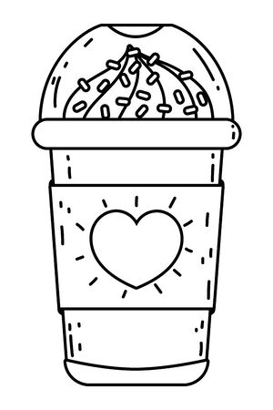 Iced coffee vector design