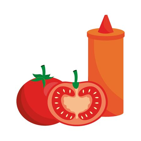 Isolated tomato sauce design vector illustration Foto de archivo - 133489893