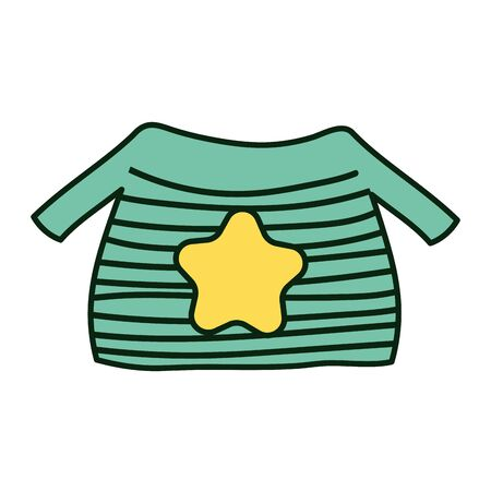 warm ugly sweater with star and stripes