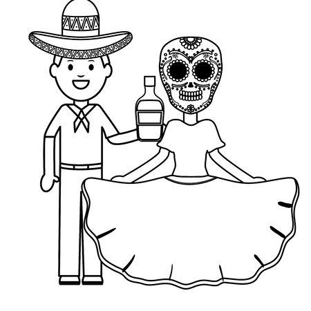 mexican man characters Stock fotó - 133489871