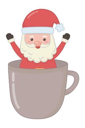 Merry christmas santa claus vector design
