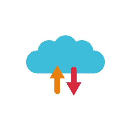 Isolated cloud computing flat vector design