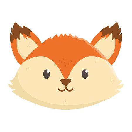cute fox head on white background 일러스트