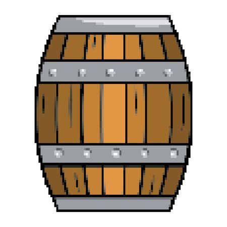 Isolated wood barrel design vector illustration