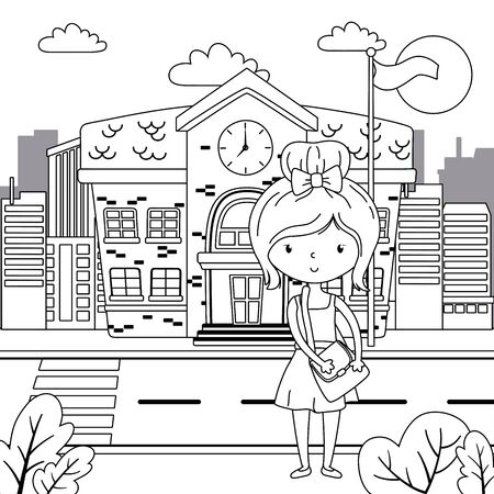 Teenager girl cartoon design vector illustration