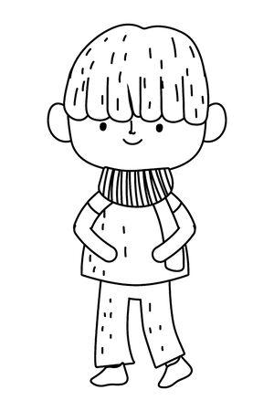 Isolated boy cartoon design vector illustration Ilustração