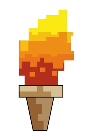 Isolated pixel flame design vector illustration
