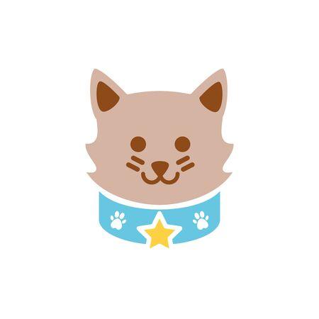 Isolated cat icon flat vector design  イラスト・ベクター素材