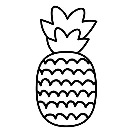 fresh pineapple fruit summer icon