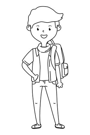 Boy cartoon of school design Illusztráció