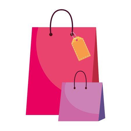 Shopping bag icon Illustration