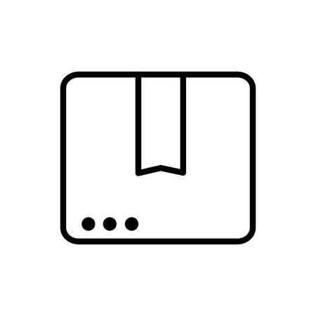 website order service delivery icon thick line Иллюстрация