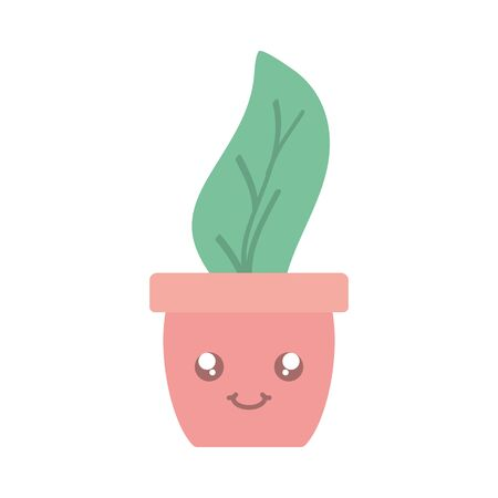 house plant in ceramic pot character 일러스트