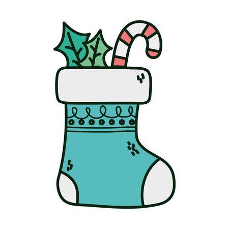 sock candy cane celebration happy christmas