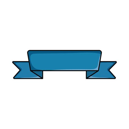 ribbon frame tape isolated icon