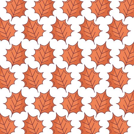 autumn brown leaves nature foliage pattern design  イラスト・ベクター素材