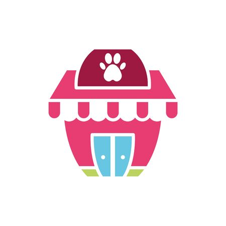 Isolated pet store icon flat vector design