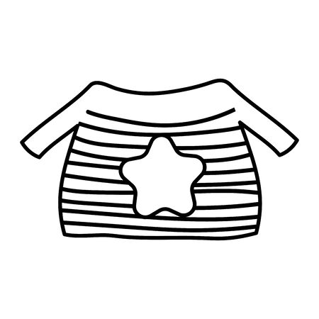 warm ugly sweater with star and stripes thick line