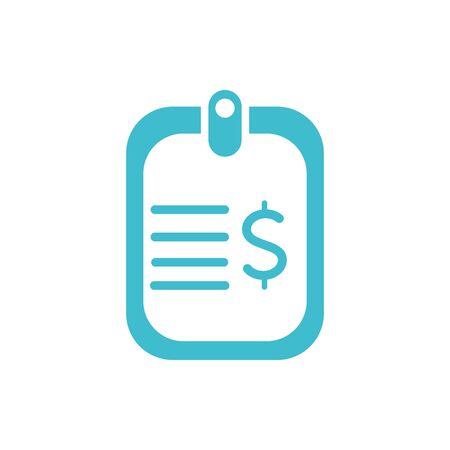 carta soldi affari finanza colore silhouette Vettoriali