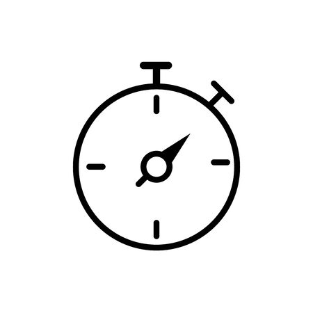 stopwatch time speed delivery icon vector illustration thick line 矢量图像