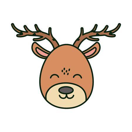 reindeer face vector illustration