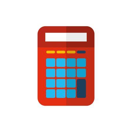 Isolated calculator icon flat vector design
